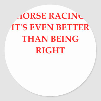 horse racing classic round sticker