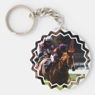 Horse Racing Keychain