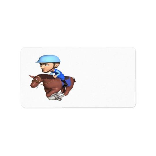 Horse Racing Label