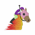 Horse Racing Logo Embroidered Jacket