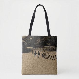 Horse Racing Muddy Track Grunge Tote Bag