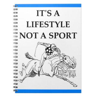 horse racing notebooks