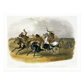 Horse Racing of Sioux Indians near Fort Pierre, pl Postcard