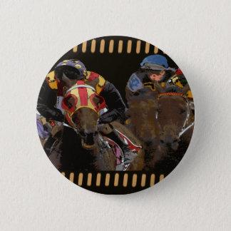 Horse Racing on Film Strip 2 Inch Round Button
