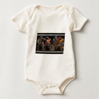 Horse Racing on Film Strip Baby Bodysuit