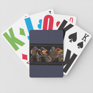 Horse Racing on Film Strip Bicycle Playing Cards
