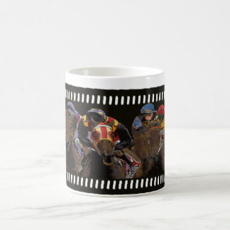 Horse Racing on Film Strip Coffee Mug