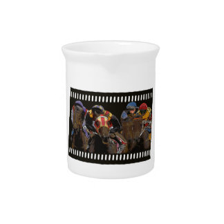 Horse Racing on Film Strip Drink Pitcher