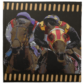 Horse Racing on Film Strip Napkin