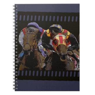 Horse Racing on Film Strip Notebook
