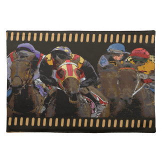 Horse Racing on Film Strip Placemat