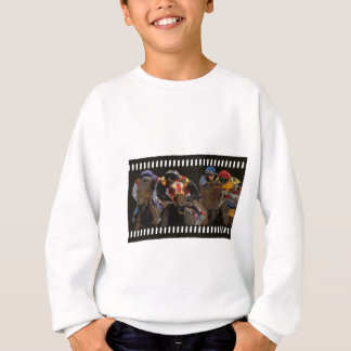 Horse Racing on Film Strip Sweatshirt