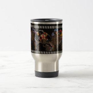 Horse Racing on Film Strip Travel Mug