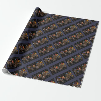 Horse Racing on Film Strip Wrapping Paper