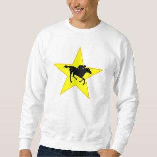 Horse Racing Silhouette Star Sweatshirt