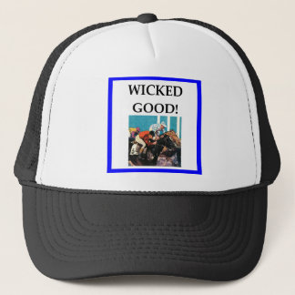 horse racing trucker hat