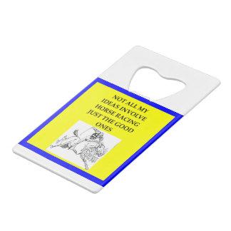 horse racing wallet bottle opener
