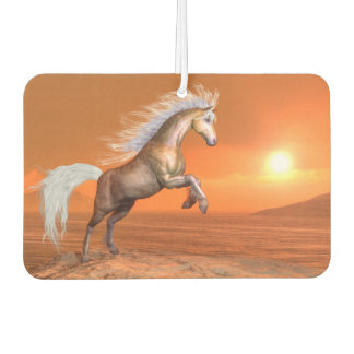 Horse rearing by sunset - 3D render Car Air Freshener