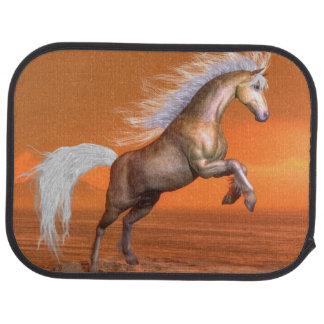 Horse rearing by sunset - 3D render Car Mat