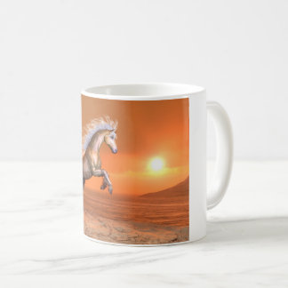 Horse rearing by sunset - 3D render Coffee Mug