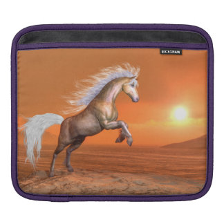 Horse rearing by sunset - 3D render iPad Sleeve