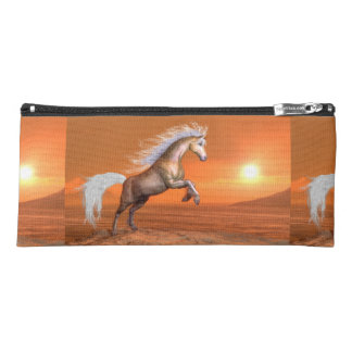 Horse rearing by sunset - 3D render Pencil Case