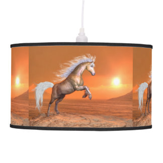 Horse rearing by sunset - 3D render Pendant Lamp