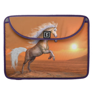 Horse rearing by sunset - 3D render Sleeve For MacBook Pro