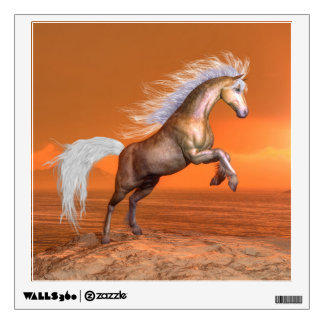 Horse rearing by sunset - 3D render Wall Decal