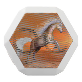 Horse rearing by sunset - 3D render White Bluetooth Speaker