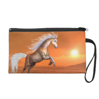 Horse rearing by sunset - 3D render Wristlet