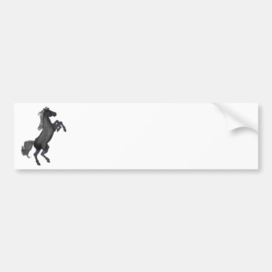 Horse Rearing Facing The Right Bumper Sticker
