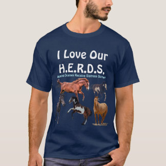 Horse Rescue HERDS Charity Fundraiser T-Shirt