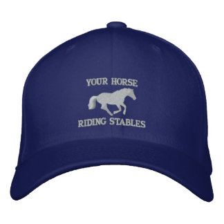 Horse rider or stable owners embroidered hat