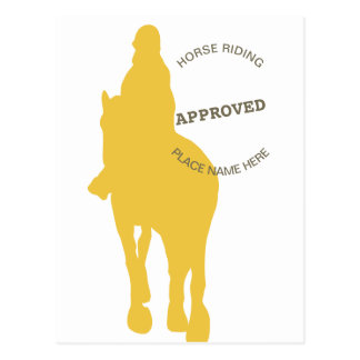 Horse Riding Approved Postcard