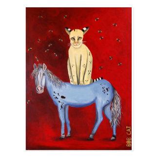 Horse Riding Bob Postcard