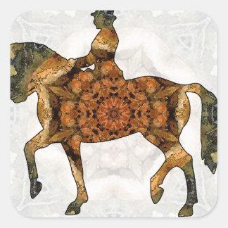 Horse riding - Dressage 03.jpg Square Sticker