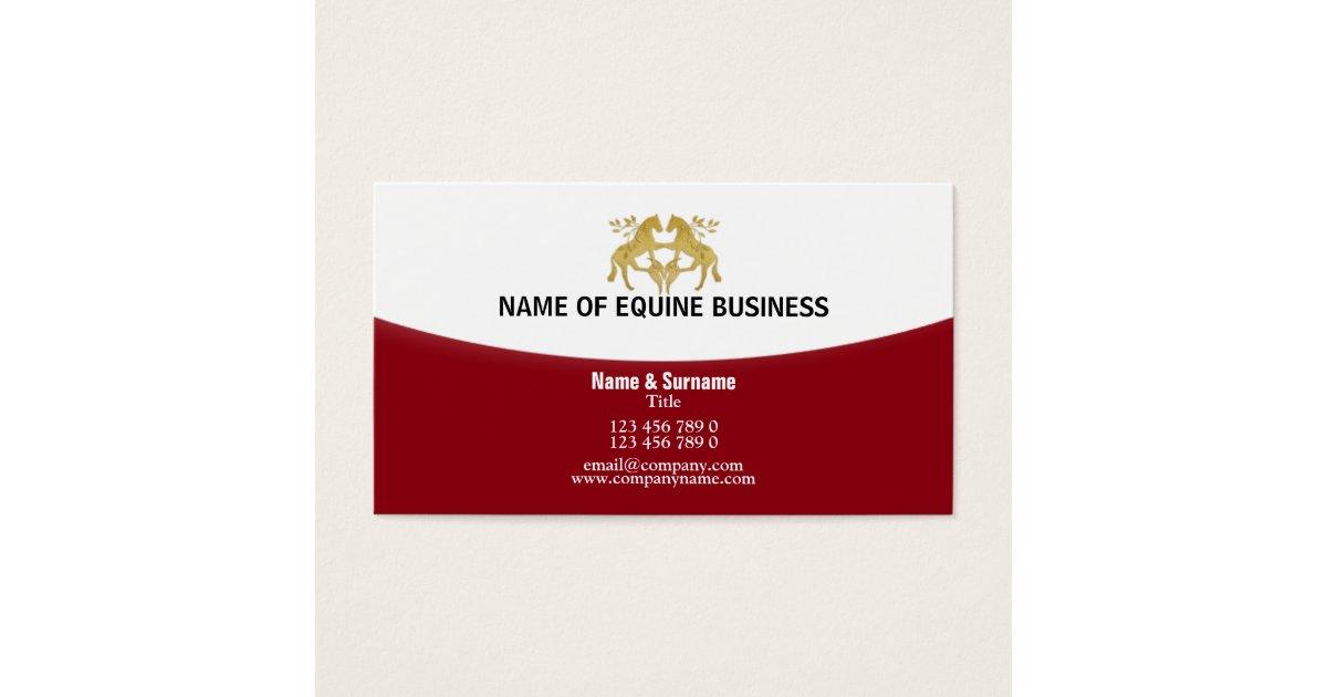 Pretty Equine Business Cards Photos - Business Card Ideas - etadam.info