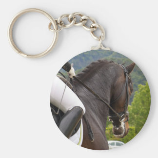 Horse riding keychain