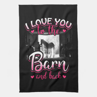 Horse Riding Love and Sport Kitchen Towel