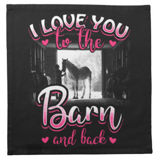 Horse Riding Love and Sport Napkin
