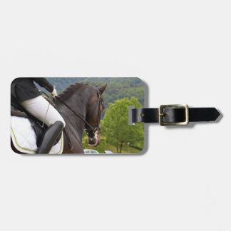 Horse riding luggage tag