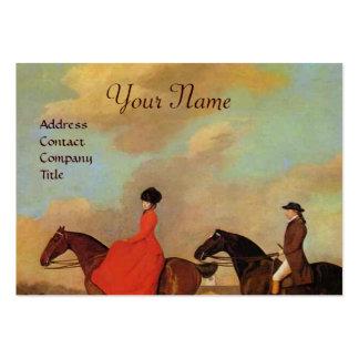 HORSE RIDING Monogram Business Card Templates