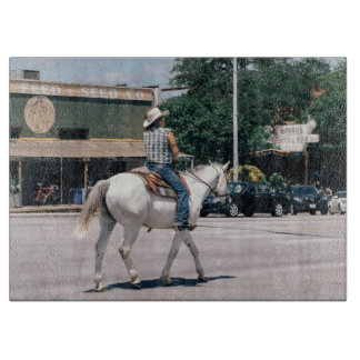 Horse Riding on South Congress Ave Boards