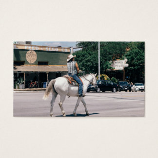 Horse Riding on South Congress Ave Business Card