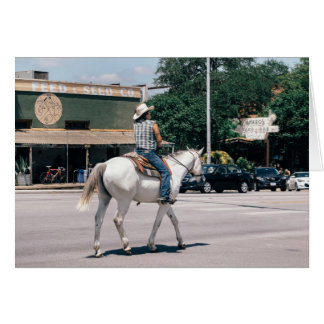 Horse Riding on South Congress Ave Card