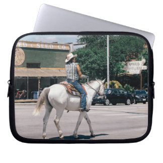 Horse Riding on South Congress Ave Computer Sleeves