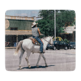 Horse Riding on South Congress Ave Cutting Board