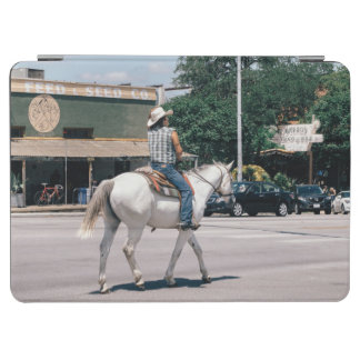 Horse Riding on South Congress Ave iPad Air Cover