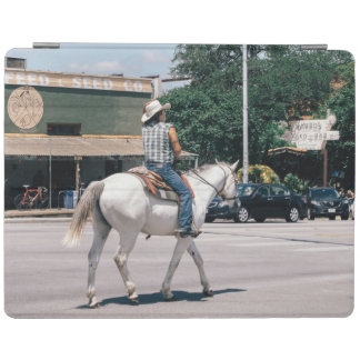 Horse Riding on South Congress Ave iPad Cover
